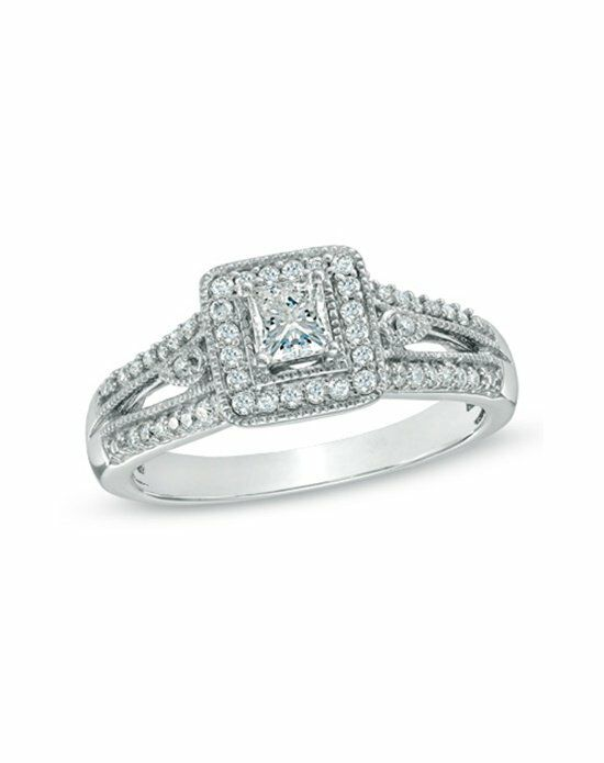 zales 12 ct tw princess cut diamond vintage style engagement ring - Wedding Rings At Zales