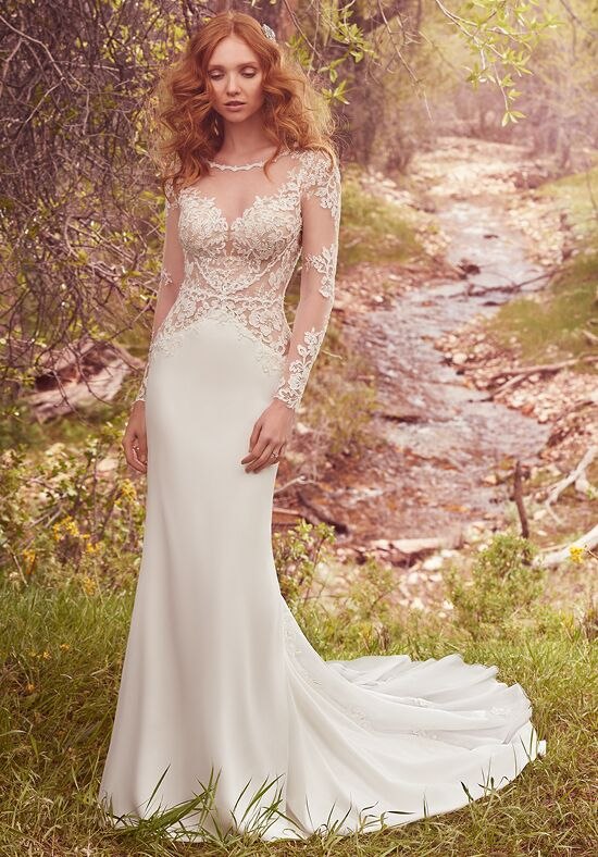 Maggie Sottero Blanche Sheath Wedding Dress