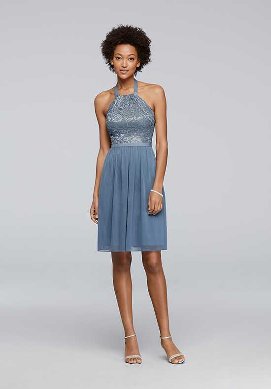 David's Bridal Collection David's Bridal Style F17020M Halter Bridesmaid Dress