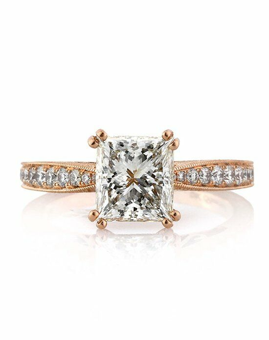Mark Broumand Unique Princess Cut Engagement Ring