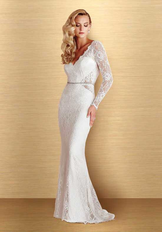 Paloma Blanca 4662 Sheath Wedding Dress