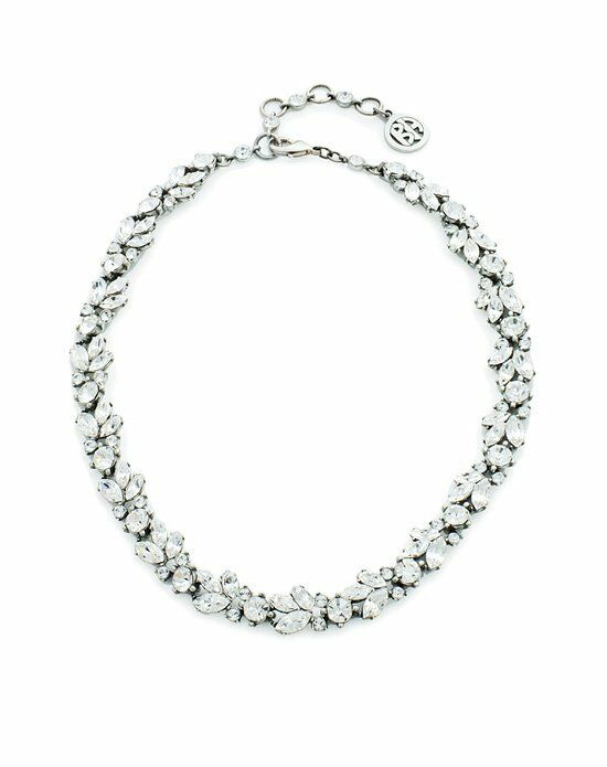Thomas Laine Ben-Amun Marquise and Round Crystal Necklace Wedding  photo