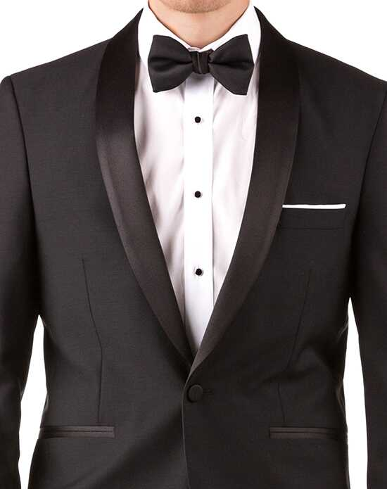Generation Tux Black Shawl Lapel Tux White, Black Tuxedo