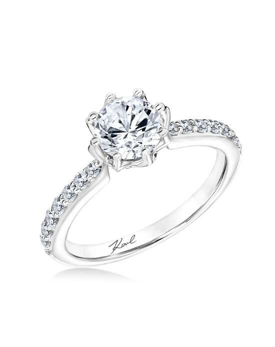 karl lagerfeld elegant round cut engagement ring - Elegant Wedding Rings
