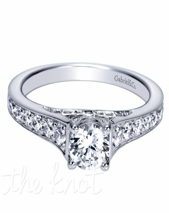 Adore by Gabriel & Co. W-ER8627D4 White Gold Wedding Ring
