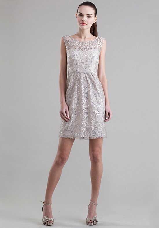 Jenny Yoo Collection (Maids) Harlow Metallic Swirl 1562 Bateau Bridesmaid Dress
