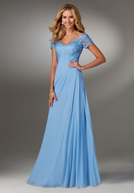 MGNY 71513 Blue Mother Of The Bride Dress