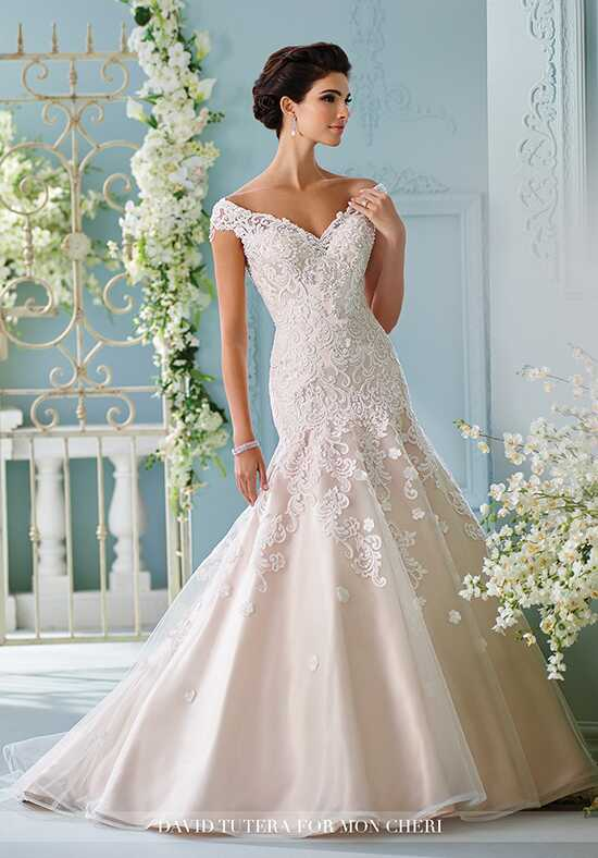 David Tutera for Mon Cheri 216254 Sialia Mermaid Wedding Dress