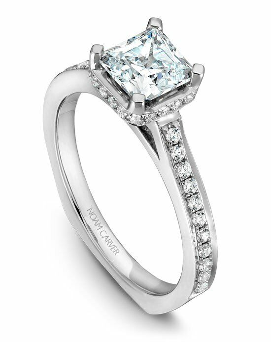 Noam Carver Elegant Cushion Cut Engagement Ring