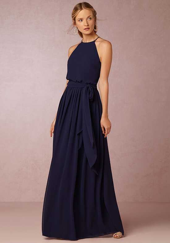 BHLDN (Bridesmaids) Alana-Blue Halter Bridesmaid Dress