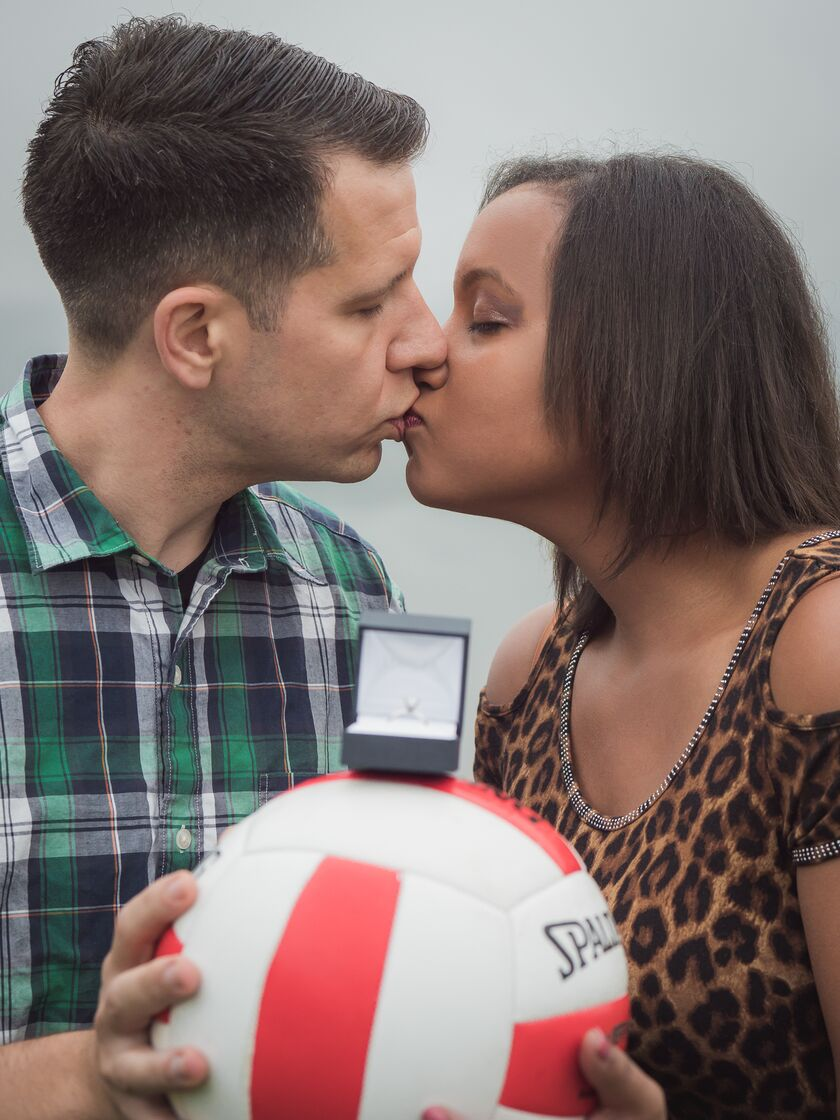 ad99e976b964 People say you meet the right one just doing the things you like to do.  Well that is the story of Jack and Cherise. Cherise was play volleyball at  Plymouth ...