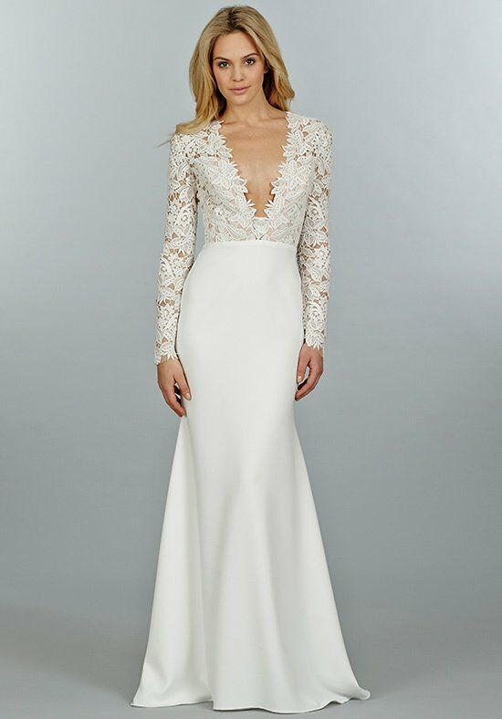 Tara Keely by Lazaro 2450 Sheath Wedding Dress