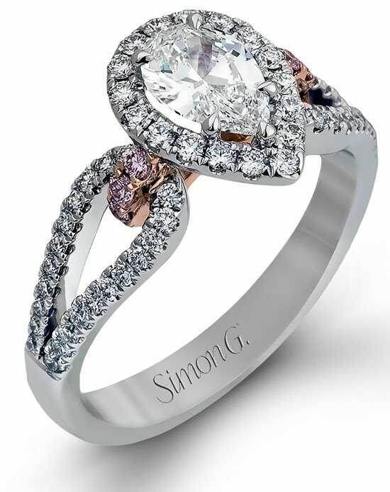 simon g jewelry - Pear Shaped Wedding Ring