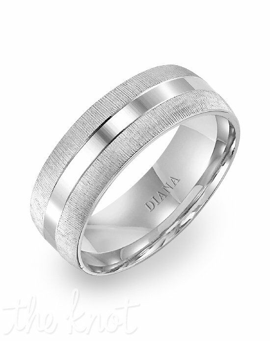 Diana 11-N7661W75-G White Gold Wedding Ring
