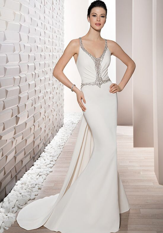Demetrios 704 Sheath Wedding Dress
