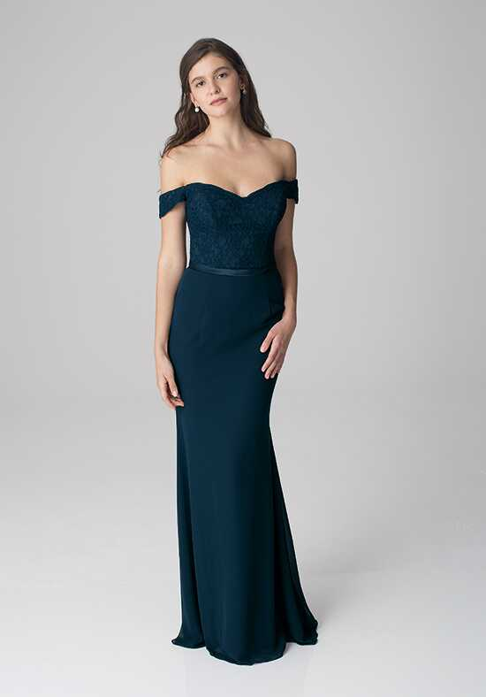 Bill Levkoff 1252 Illusion Bridesmaid Dress