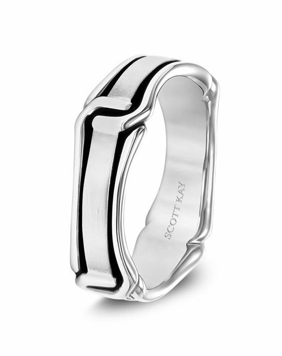 Scott Kay G4084CV6 Platinum Wedding Ring