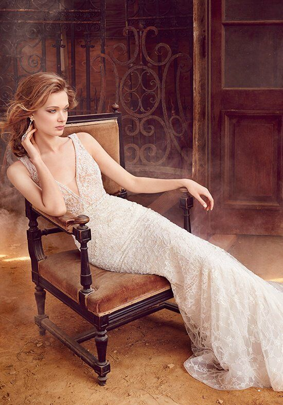 Lazaro 3558 Sheath Wedding Dress