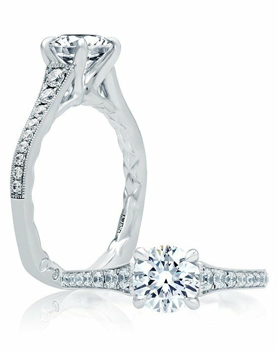 A.JAFFE Round Cut Engagement Ring