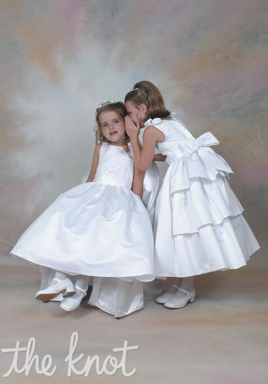 Sweetie Pie Collection 158 White Flower Girl Dress