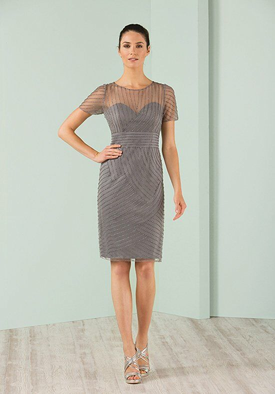 Jasmine Black Label M180003 Gray Mother Of The Bride Dress