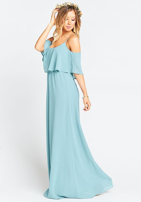 Show Me Your Mumu Caitlin Ruffle Maxi Dress - Poolside Chiffon Scoop Bridesmaid Dress