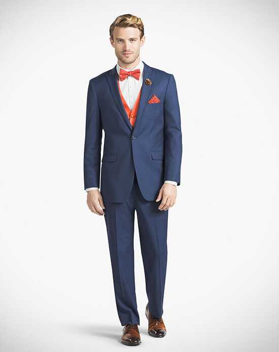 Generation Tux Mystic Blue Peak Lapel Suit Wedding Tuxedos + Suit photo