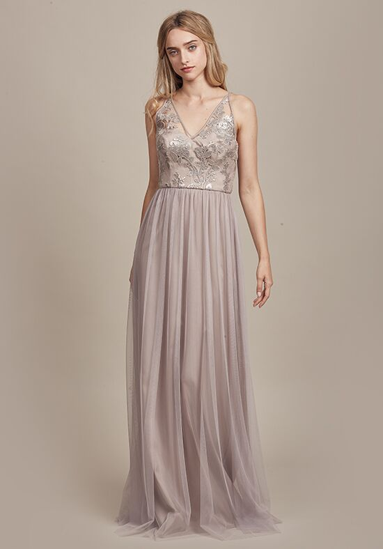 Amsale Bridesmaids Sora V-Neck Bridesmaid Dress