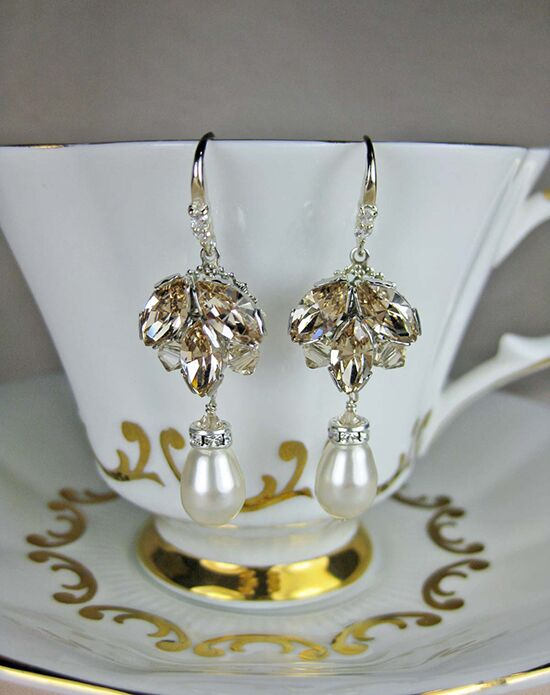 Everything Angelic Stella Earrings - e305 Lt Silk Wedding Earring photo