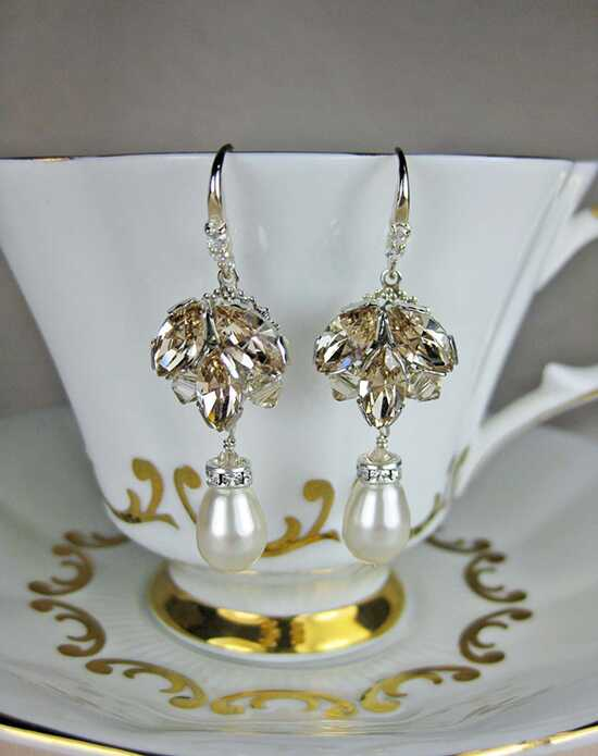 Everything Angelic Stella Earrings - e305 Lt Silk Wedding Earrings photo