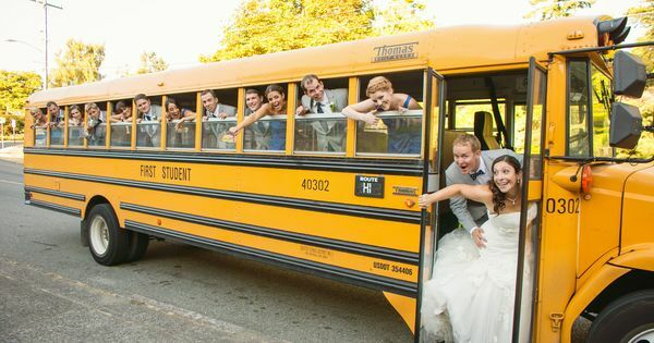 We Have Arranged For A School Bus Shuttle To And From The Wedding Venue Want Eliminate Driving Maximize Partying