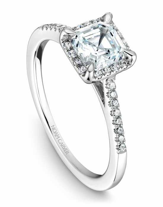 Noam Carver Elegant Asscher Cut Engagement Ring