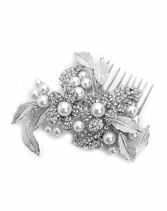 USABride Pretty Flower Comb TC-2233 Silver Pins, Combs + Clip