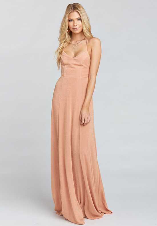 Show Me Your Mumu Godshaw Goddess Gown - Dancing Queen Shine Copper Scoop Bridesmaid Dress