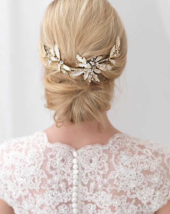 USABride Caprice Floral Clip TC-2282-G Gold Pins, Combs + Clip