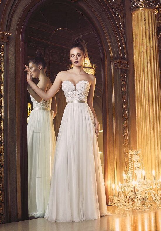 Paloma Blanca 4707 A-Line Wedding Dress