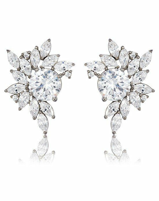 Thomas Laine Liz Garland Cluster Earrings Wedding Earring photo