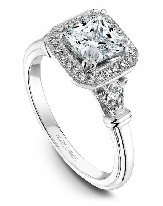 Noam Carver Vintage Princess Cut Engagement Ring