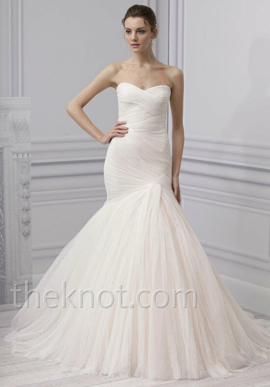 Monique lhuillier grace wedding dress the knot for Price of monique lhuillier wedding dresses