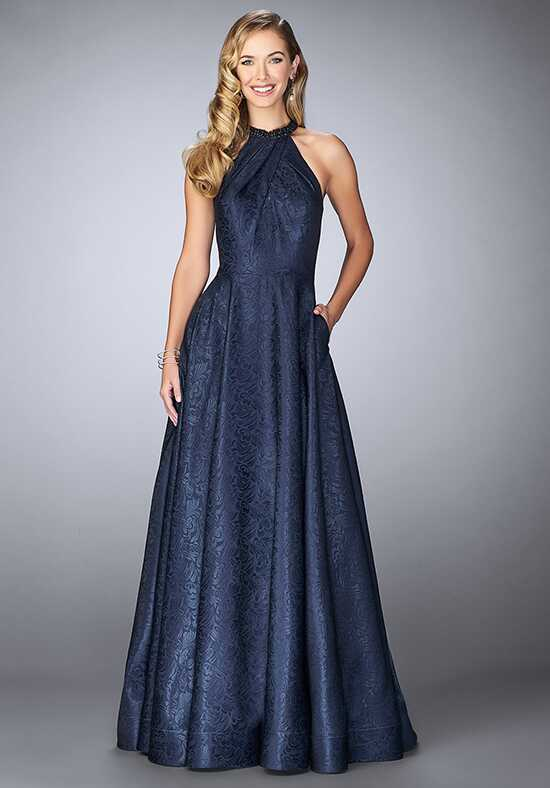 La Femme Evening 24888 Blue Mother Of The Bride Dress