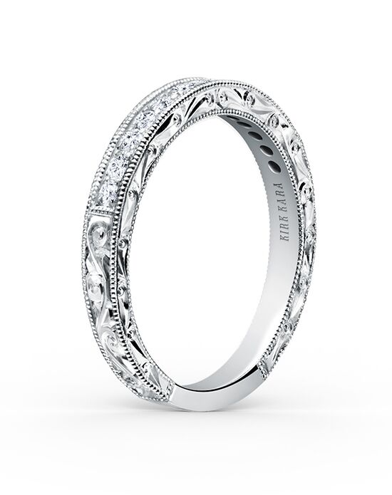 Kirk Kara Stella Collection K160E-B White Gold Wedding Ring