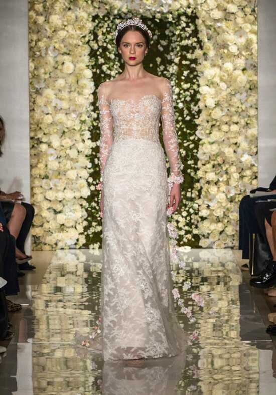 Reem Acra I'm Extravagant Sheath Wedding Dress