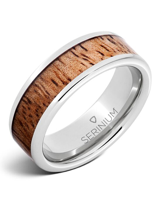 Serinium® Collection Tropical Sunset — Mango Wood Inlay Serinium ®Ring-RMSA002778 Serinium® Wedding Ring