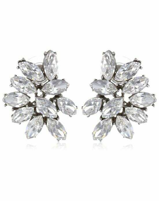 Thomas Laine Ben-Amun Marquise Cluster Crystal Earrings Wedding Earring photo