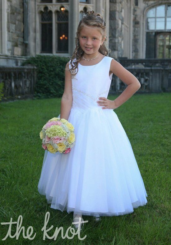 Sweetie Pie Collection 377 White Flower Girl Dress
