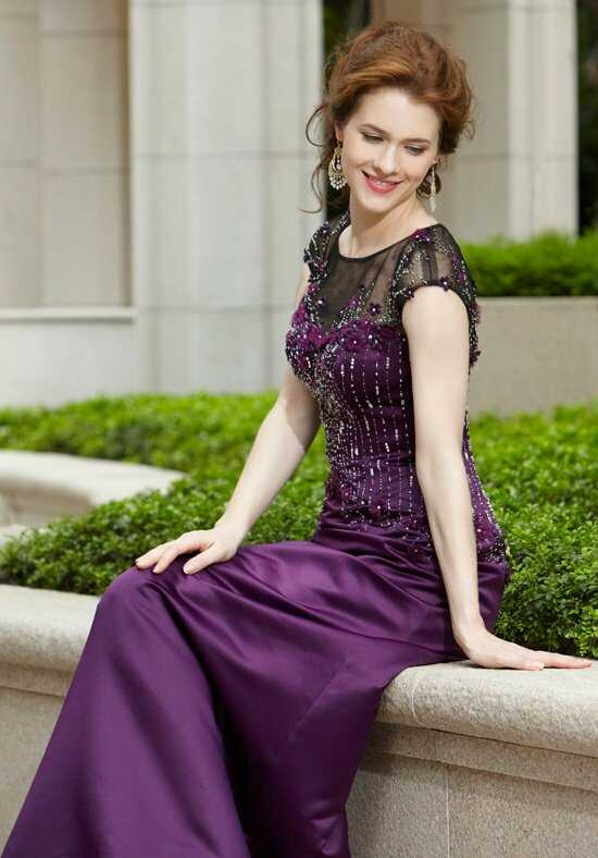 Eden Social Occassion 4087 Purple Mother Of The Bride Dress