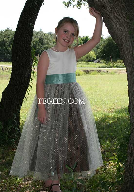 Pegeen.com 372 Black Flower Girl Dress