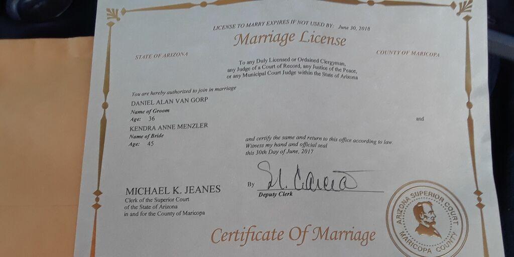 Arizona Marriage Certificates - Best Design Sertificate 2018