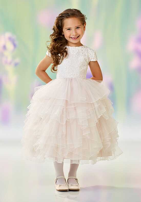 Joan Calabrese by Mon Cheri 118329 Pink Flower Girl Dress