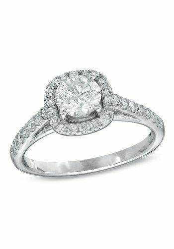 zales 2 ct tw diamond frame bridal set in 14k white gold 18650770 white gold - Zales Wedding Rings Sets